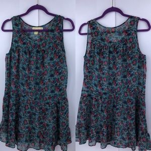 Anthro Pins and Needles Floral Baby Doll Tunic